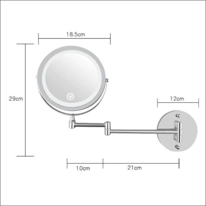 Led Makeup Mirror With Light Folding Wall Mount - China / Silver