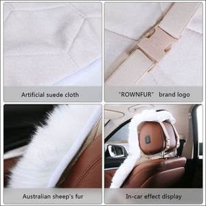 Luxury Embroidery Car Seat Cover Protector Set - white-black - 200000206