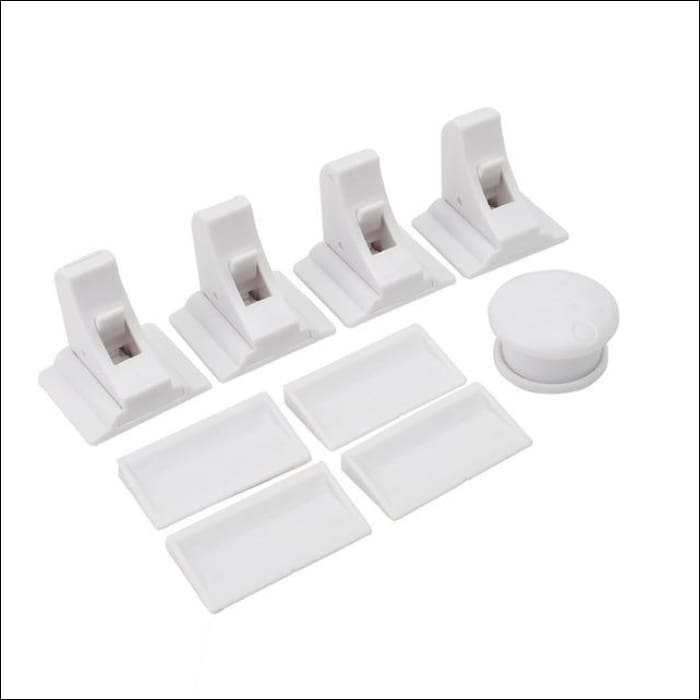 Magnetic Cabinet Safety Lock - 4pcs