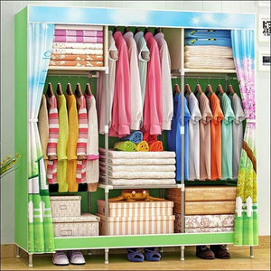 Multi-purpose Non-woven Cloth Wardrobe Fabric Closet Portable Folding Dustproof Waterproof Clothing Storage Cabinet Furniture - China /