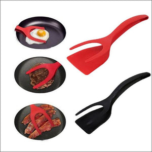 Non-Stick Fried Egg Turners and Toasted Bread Grip - Black - 100003265