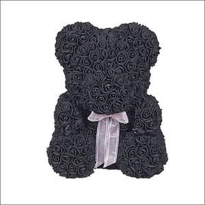 Rose Teddy Bear - Black - 100001826