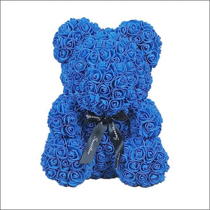 Rose Teddy Bear - Blue - 100001826