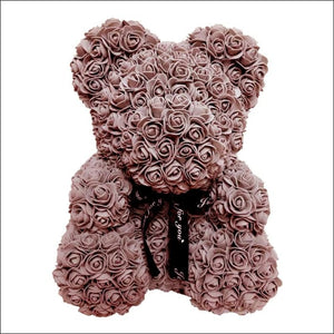 Rose Teddy Bear - Brown - 100001826