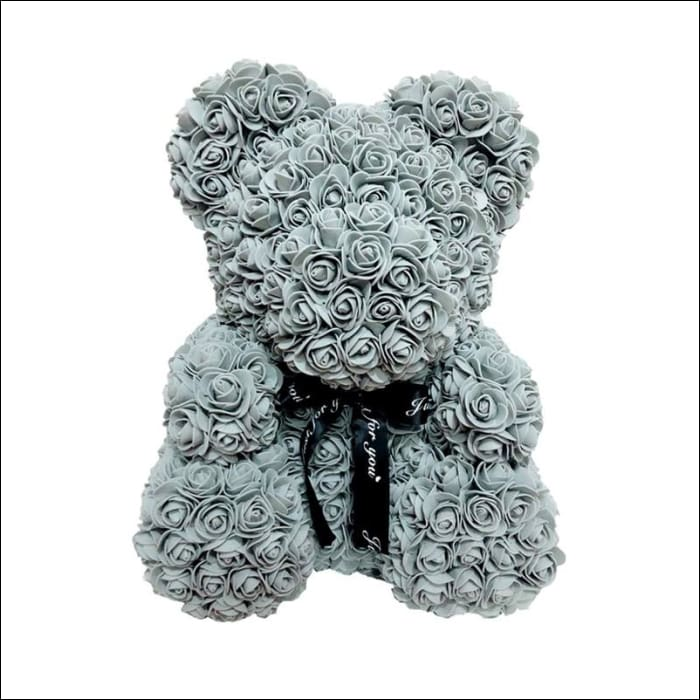 Rose Teddy Bear - Gray - 100001826