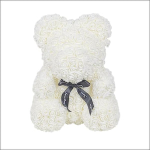 Rose Teddy Bear - Milky White - 100001826