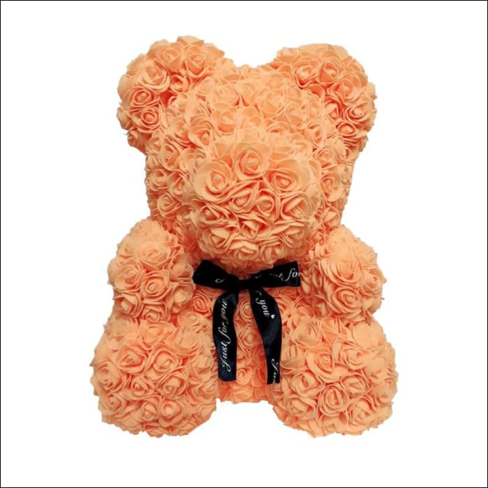 Rose Teddy Bear - Orange - 100001826
