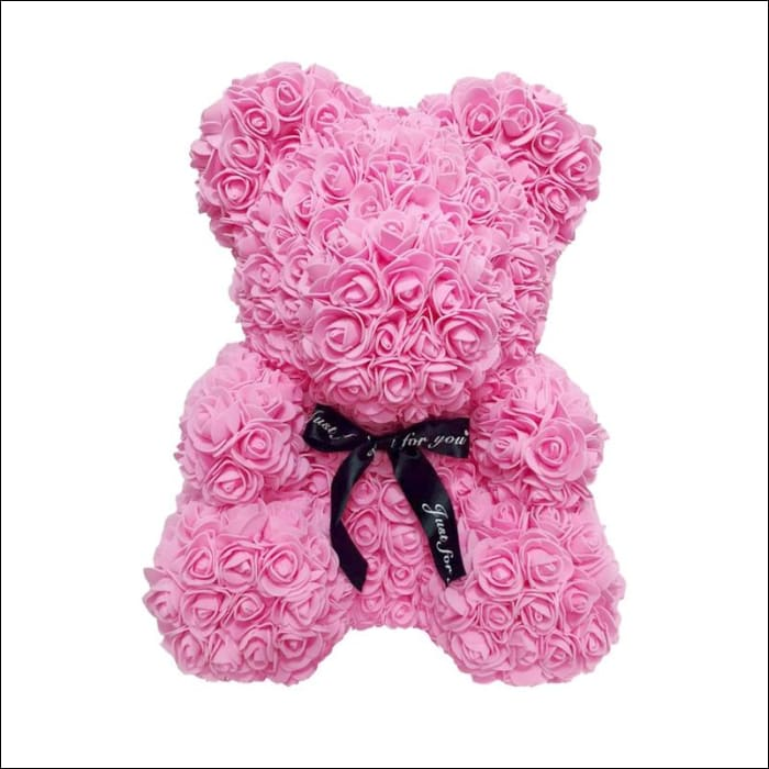 Rose Teddy Bear - Pink - 100001826