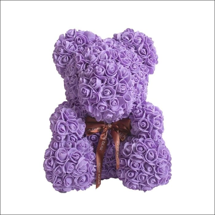 Rose Teddy Bear - Purple - 100001826