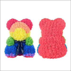 Rose Teddy Bear - rainbow - 100001826