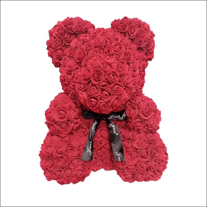 Rose Teddy Bear - Red - 100001826