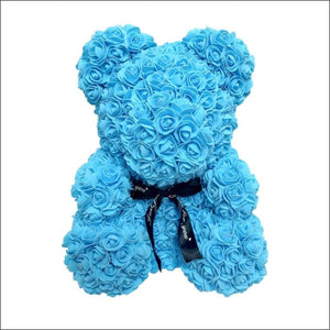 Rose Teddy Bear - Sky blue - 100001826