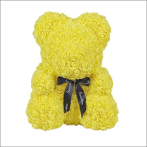 Rose Teddy Bear - Yellow - 100001826