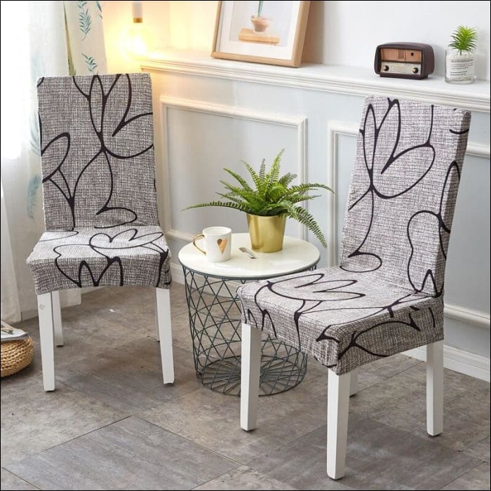 string printed chair cover seat for dining room slipcovers spandex stretch wedding office hotel chair covers - color 1 / 1 piece - 40510