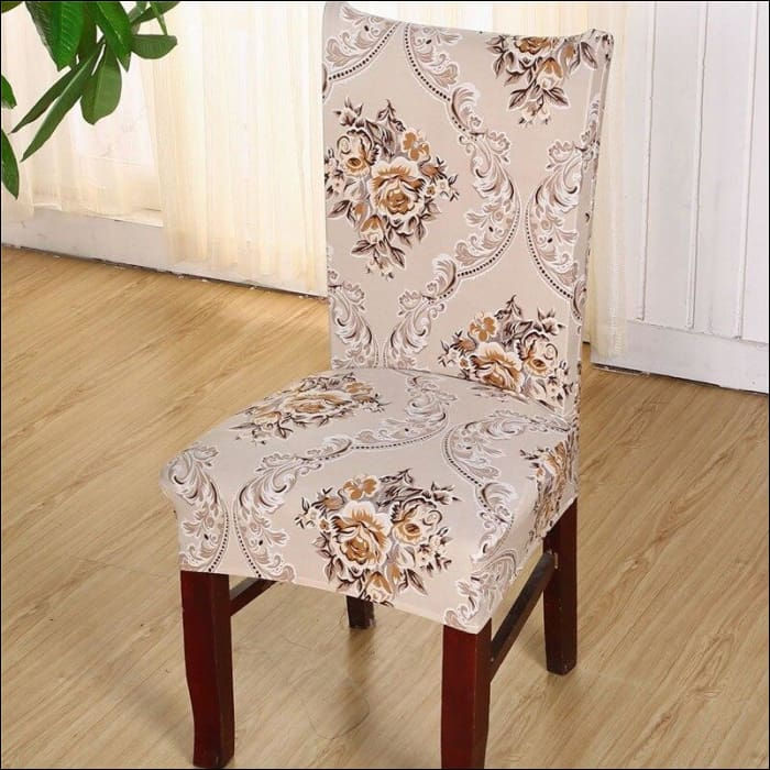 string printed chair cover seat for dining room slipcovers spandex stretch wedding office hotel chair covers - color 11 / 1 piece - 40510