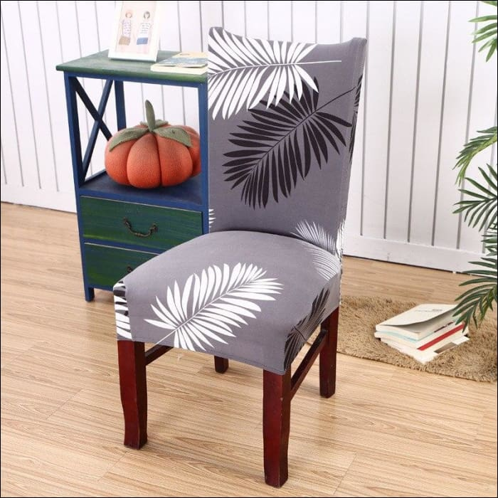 string printed chair cover seat for dining room slipcovers spandex stretch wedding office hotel chair covers - color 12 / 1 piece - 40510