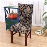 string printed chair cover seat for dining room slipcovers spandex stretch wedding office hotel chair covers - color 14 / 1 piece - 40510