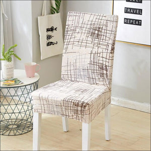 string printed chair cover seat for dining room slipcovers spandex stretch wedding office hotel chair covers - color 15 / 1 piece - 40510