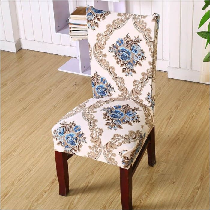 string printed chair cover seat for dining room slipcovers spandex stretch wedding office hotel chair covers - color 16 / 1 piece - 40510