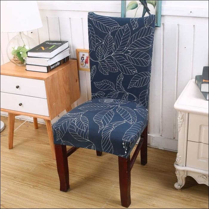 string printed chair cover seat for dining room slipcovers spandex stretch wedding office hotel chair covers - color 17 / 1 piece - 40510