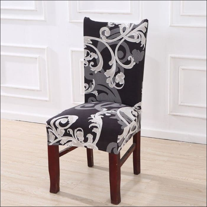 string printed chair cover seat for dining room slipcovers spandex stretch wedding office hotel chair covers - color 18 / 1 piece - 40510