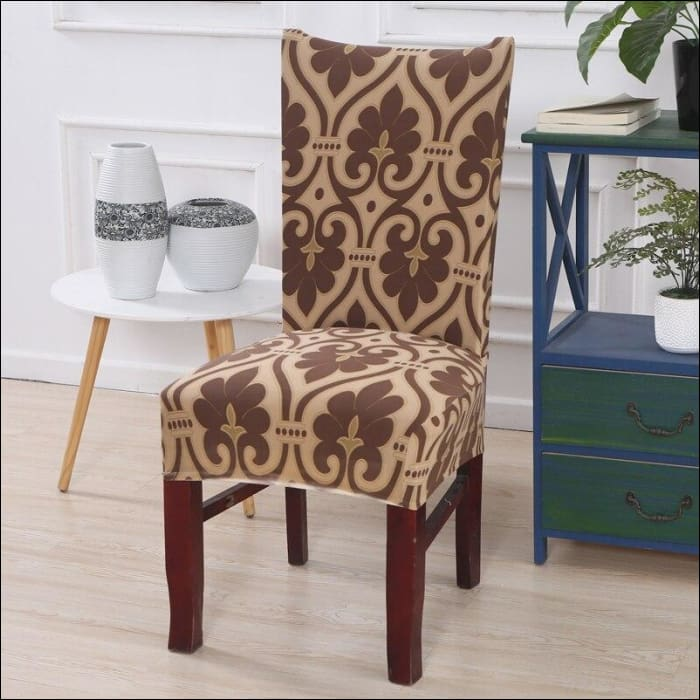string printed chair cover seat for dining room slipcovers spandex stretch wedding office hotel chair covers - color 19 / 1 piece - 40510