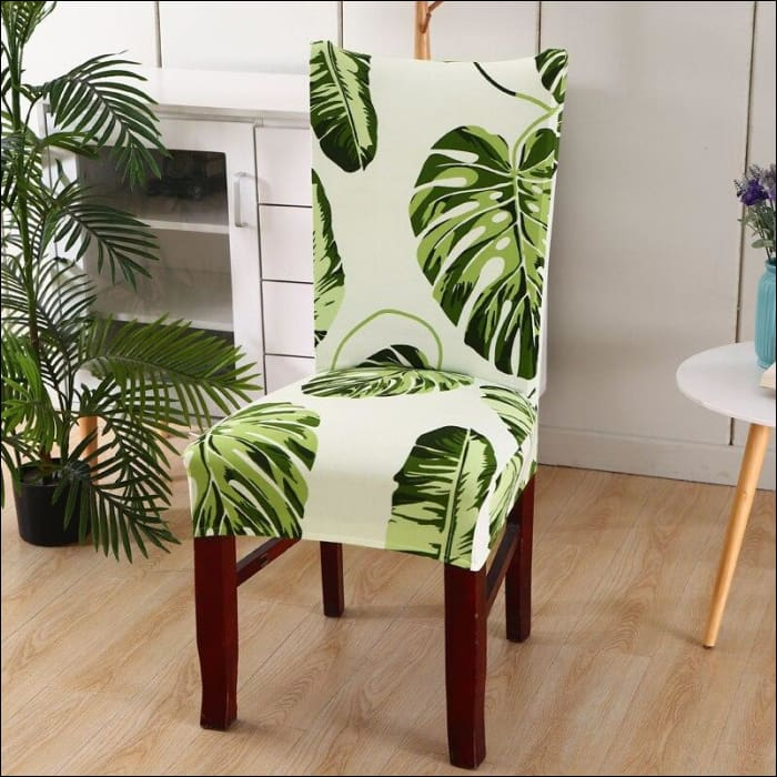 string printed chair cover seat for dining room slipcovers spandex stretch wedding office hotel chair covers - color 2 / 1 piece - 40510