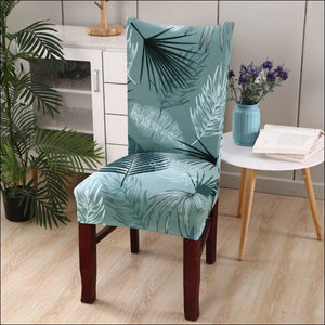 string printed chair cover seat for dining room slipcovers spandex stretch wedding office hotel chair covers - color 3 / 1 piece - 40510