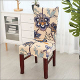 string printed chair cover seat for dining room slipcovers spandex stretch wedding office hotel chair covers - color 4 / 1 piece - 40510