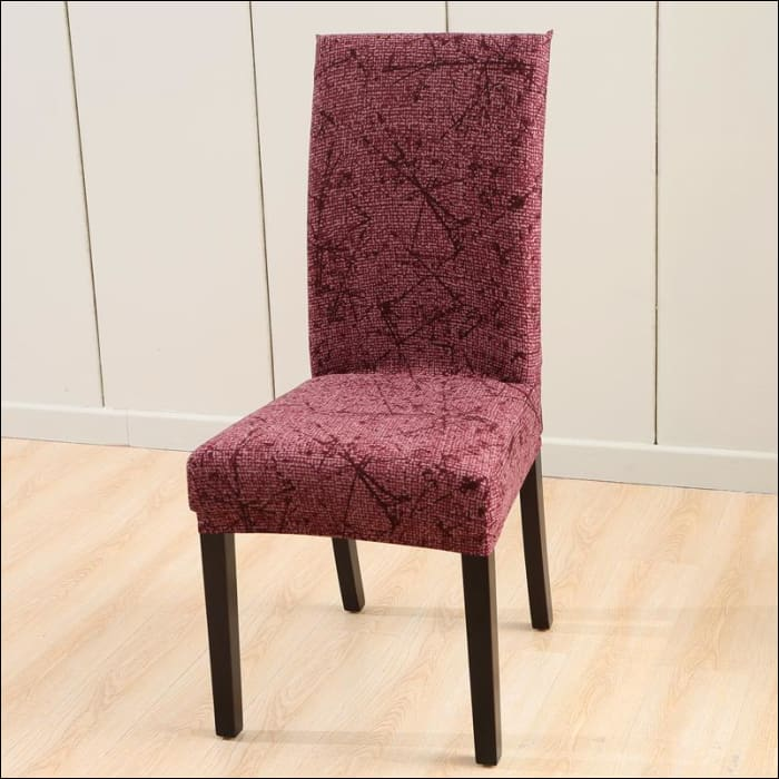 string printed chair cover seat for dining room slipcovers spandex stretch wedding office hotel chair covers - color 5 / 1 piece - 40510