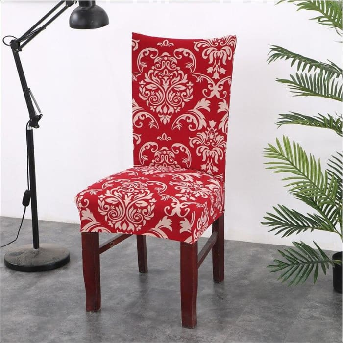 string printed chair cover seat for dining room slipcovers spandex stretch wedding office hotel chair covers - color 8 / 1 piece - 40510