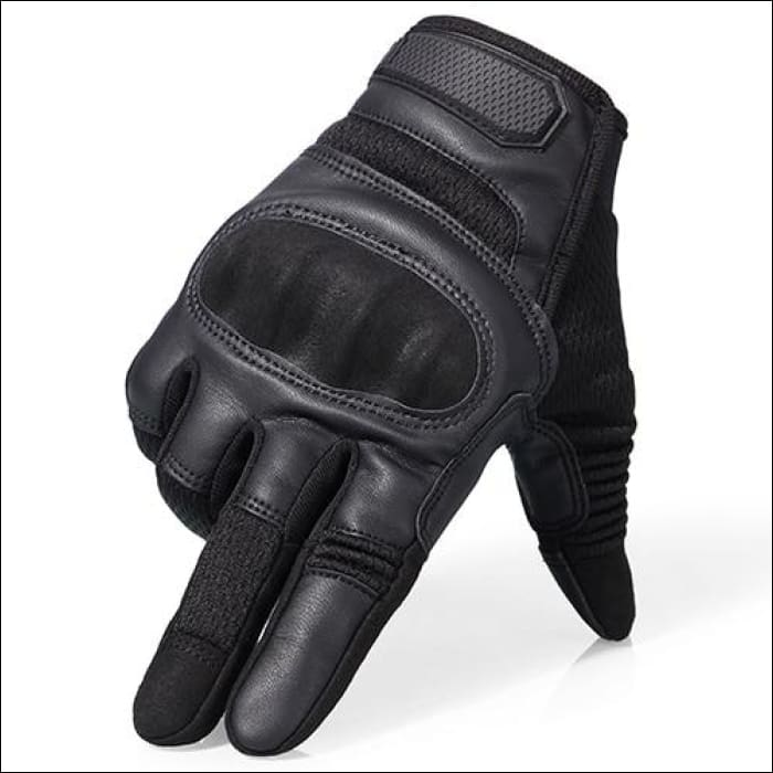 Ultra Value Full Finger Tactical Gloves - Full Finger Black / L / China
