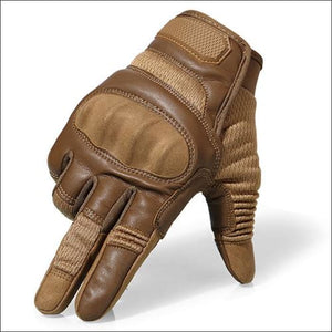 Ultra Value Full Finger Tactical Gloves - Full Finger Brown / L / China