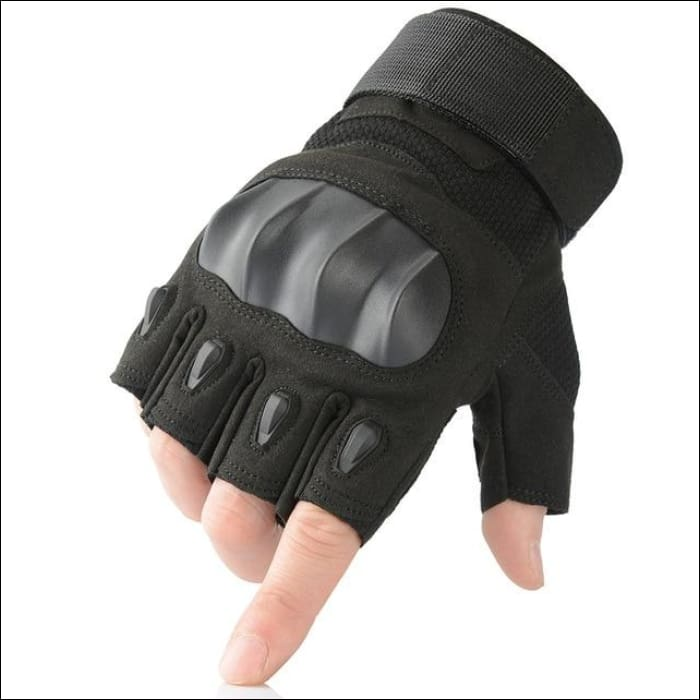 Ultra Value Full Finger Tactical Gloves - Half Finger Black / L / China