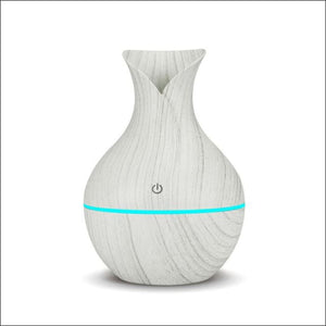 USB Air Humidifier Aromatherapy 130ml Oil Diffuser - white wood / China - 625