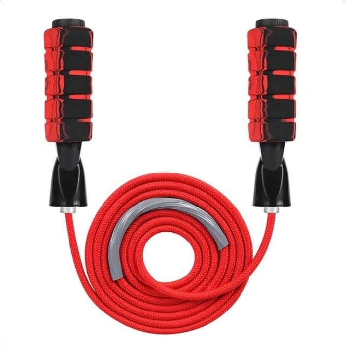 Weighted Skipping Jump Rope - Red - Gym Equipment