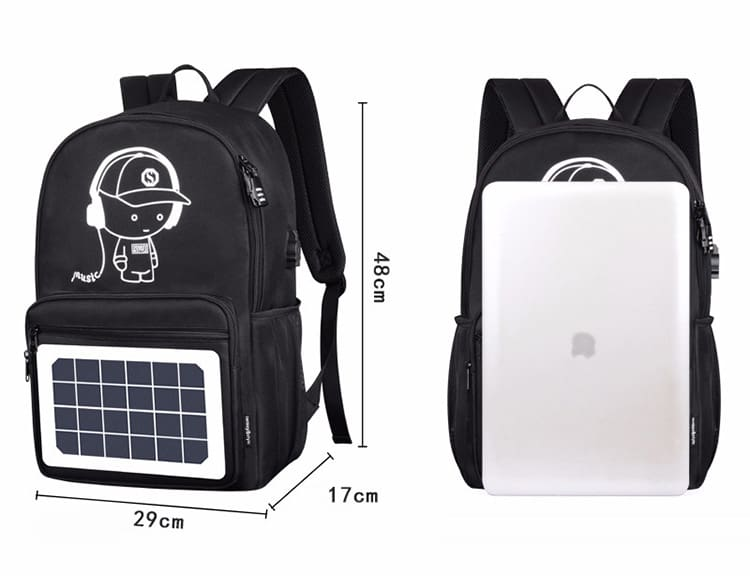 Anti Theft Backpack Men Women School Bags New Luminous Backpacks Solar USB Charging Schoolbag Children Fashion Travel Laptop Bag