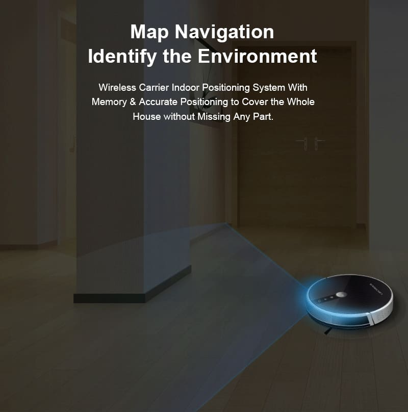 LIECTROUX C30B Robot Vacuum Cleaner Map navigation 3000Pa Suction Smart Memory Map Display on Wifi APP Electric Water tank