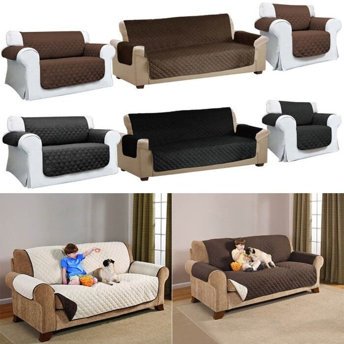 Quilted Sofa Arm Chair Settee Pet Protector Slip Cover Furniture Cushion Throws-30
