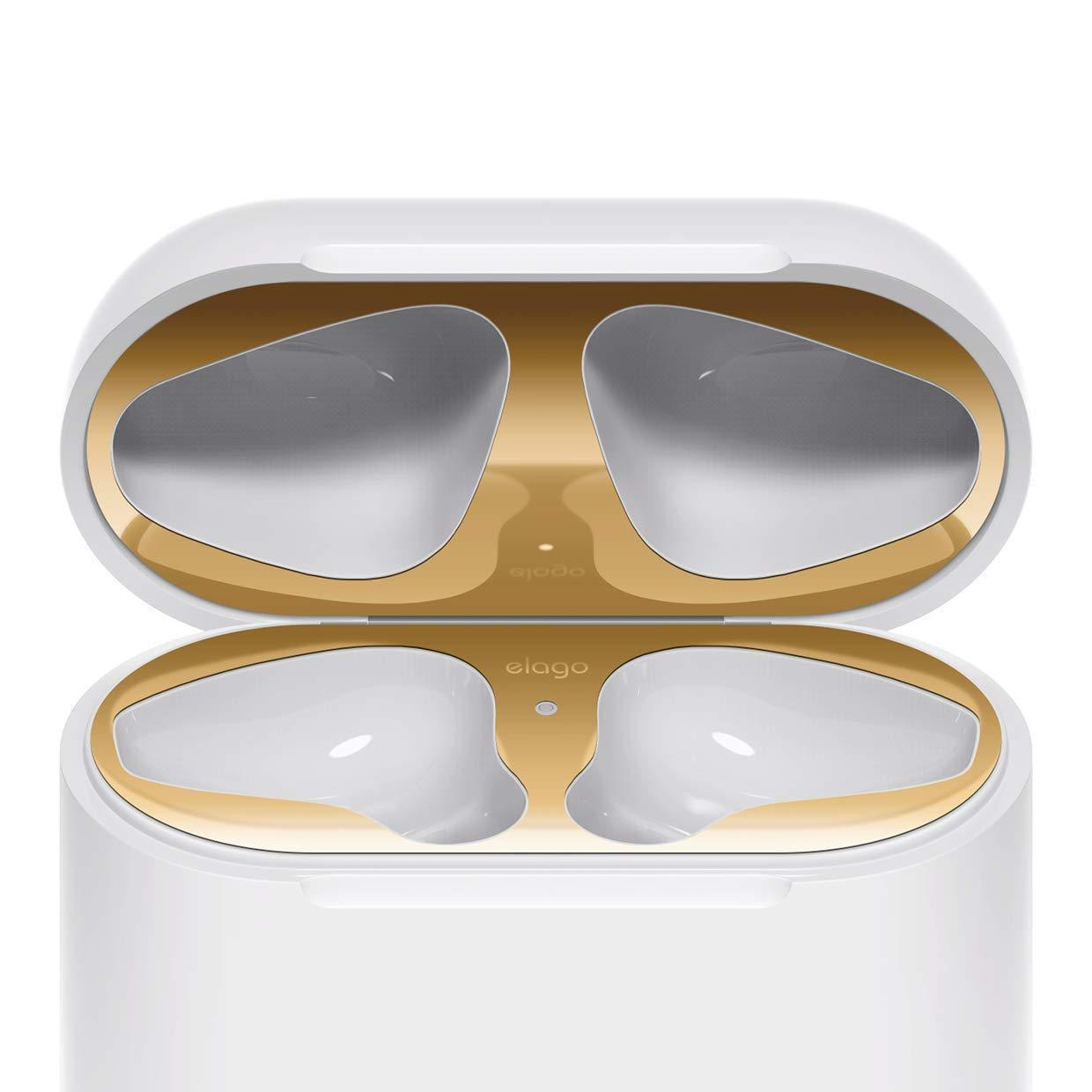 Metal Dust Guard Protective Case Shell Skin Dustproof Stickers For Apple Airpods