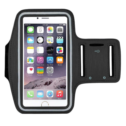 Water Resistant Sports Black Armband with Key Holder - All Models