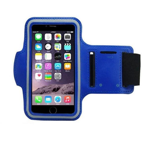 Water Resistant Sports Blue Armband with Key Holder - All Models