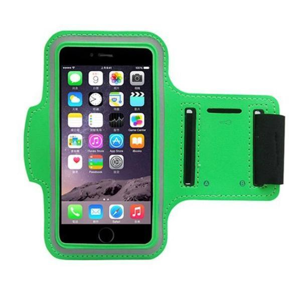 Water Resistant Sports Lime Green Armband with Key Holder - All Models