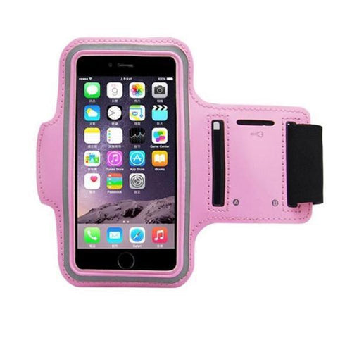 Water Resistant Sports Pink Armband with Key Holder - All Models