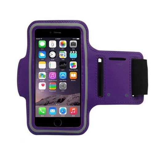 Water Resistant Sports Purple Armband with Key Holder - All Models