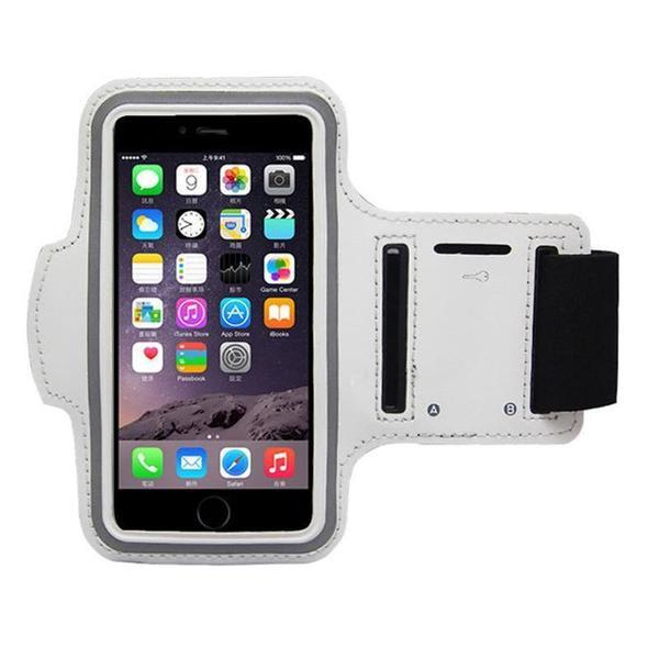 Water Resistant Sports Silver Armband with Key Holder - All Models