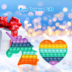 Unicorn Pop Its Rainbow Fidget Pack Sensory Toy