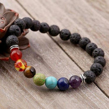 Load image into Gallery viewer, 7 Genuine Chakra Healing Natural Stone Bead Bracelet