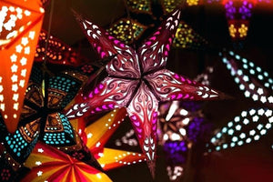 Butterfly Red/Yellow Paper Star Lantern for Christmas Wedding Party Festival Home Decorations