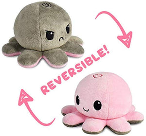 Reversible Plushie Toys, Flip Mood Toy Octopus, Unicorn, Fox, Whale, Ghost, Lion
